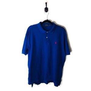 Polo by Ralph Lauren | Polo Shirt Blue & Red Sz XL